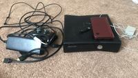 black Microsoft Xbox 360 with controller Naperville, 60563