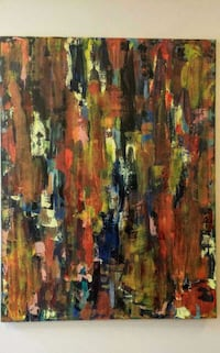 brown, green, and red abstract painting Toronto, M1E 2S8