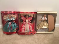Holiday Barbies and Special Edition Barbies from early 90's to early 2000's.