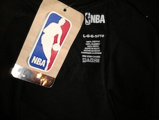 black crewneck t-shirt printed with Golden State W
