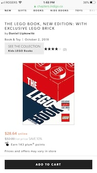 The LEGO Book New Edition with exclusive LEGO brick  Toronto