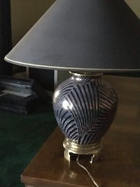 gray and white table lamp Windermere, 34786