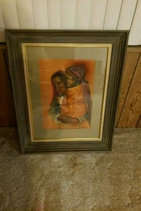 brown wooden framed painting of woman San Jacinto, 92583
