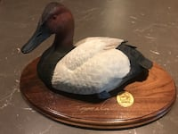 Limited edition canvasback duck resin decoy on wood plaque  null, K0A 3H0