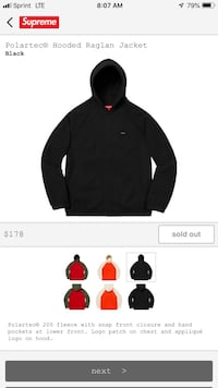 Supreme fleece jacket Redondo Beach, 90277