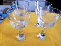 two clear glass candle holders Long Beach, 90805