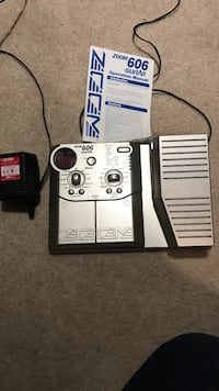 Zoom 606 Guitar Effects Pedal with Manual Georgetown, L7G 5V6