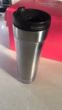 Starbucks coffee cup. Make your own paper cover to insert in to a clear plastic. Gently used cup Toronto, M8Y 1N7
