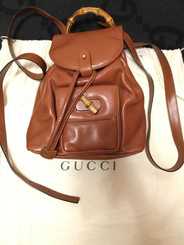 New Original Gucci Wood Handle 2ways Bag
