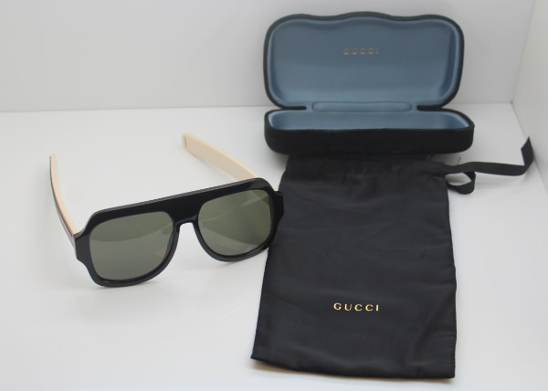 c27db3d6d2 Used Authentic Gucci GG0255S 001 Black Ivory w Grey 59 17 150 Sunglasses  for sale in Boca Raton - letgo