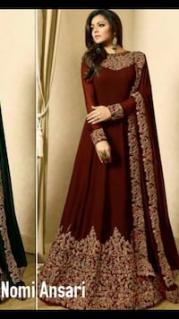 women's red and brown long-sleeved dress Brampton, L6V 4J4