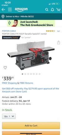 Porter cable jointer