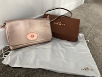 Coach leather crossbody bag in rose gold Edmonton, T5K 2T7