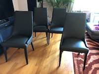 4 Leather Upholstered Dining Chairs, never used New York