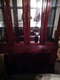Cabinet and table set w 4 chairs