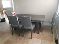 Grey Table with 4 chairs and 1 Bench(All new) Diamond Bar, 91765