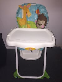 baby's white and green high chair Omaha, 68154