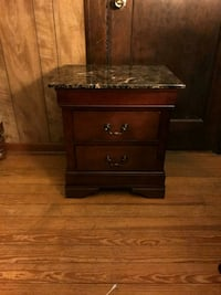 brown wooden 3-drawer nightstand South Holland