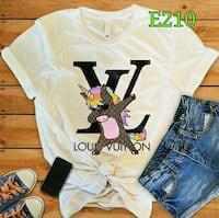 t-shirt girocollo bianca Louis Vuitton Roma, 00165