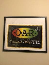 OAR Autographed Tour Poster (Rock/Jam Band).  From their Extended Stay performances at the 9:30 Club. Limited Edition. Numbered and signed by both the artist and the band members. Only 250 were made.  This is 95 out of 250 Glen Burnie, 21060