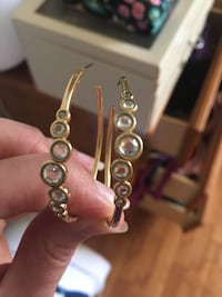 Hoop earrings. Brand is Nadri. From Nordstrom. Montgomery Village, 20886