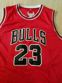 red and white Chicago Bulls 23 jersey shirt Annandale, 22003