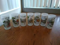 Vintage Currier and Ives frosted glasses set of 7 Las Vegas, 89102