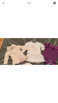5 sweater dresses baby girl size 12-24 months Laval, H7W 3R7