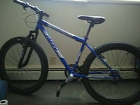 blue and white hardtail mountain bike Bloomington, 61701