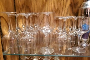 crystal wine goblets  - two different sizes