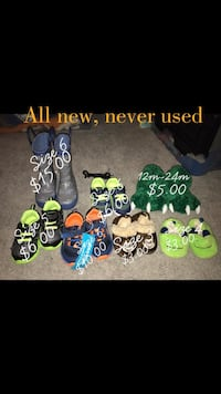 assorted-color-and-brand footwear lot Columbia, 21045