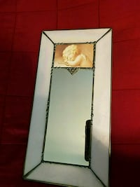 Mirror with pink glass border Fairfax, 22032