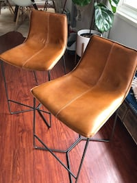 West Elm Leather Counter Stools Sacramento, 95816