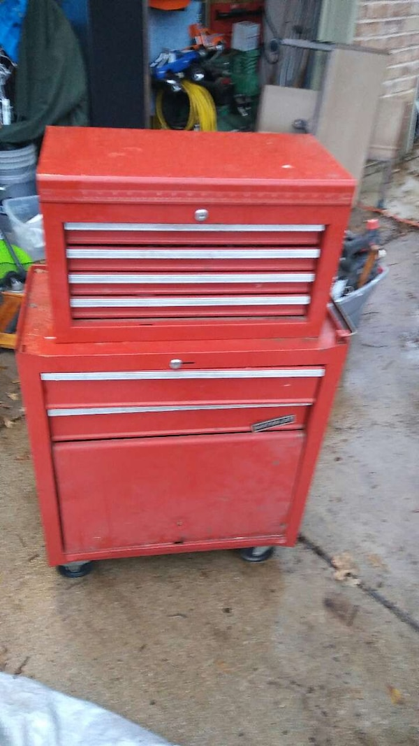 used waterloo stand up tool box withe some tools for sale in ...