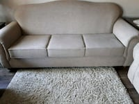 gray fabric 3-seat sofa Surrey, V3R 1W1