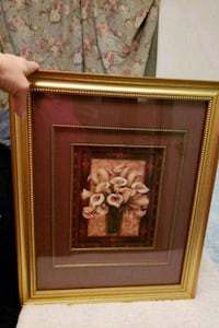 brown wooden framed painting of flowers Silver Spring, 20906