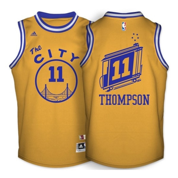 buy online 5bc06 8aff6 Golden State Warriors klay Thompson authentic jersey size L
