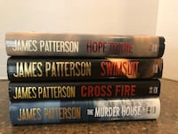 Set of 4 James Patterson Hardcover Books $8 For All Manassas, 20112