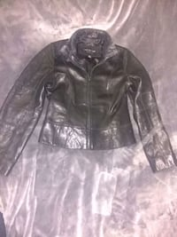 black leather zip-up jacket Vancouver, V5N 4C2