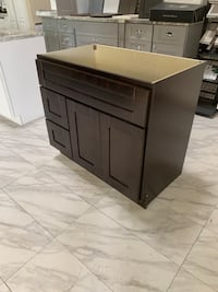 "36"" Solid Wood Shaker Bathroom Vanity Cabinet in Espresso Finish Base  Fairfax, 22031"