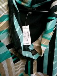 black and teal striped cardigan Athens, 30606