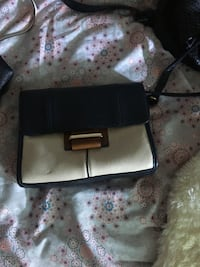 black and gray leather wristlet London