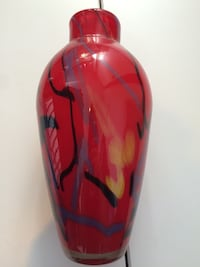 Red Fall Coloured Glass Blown Vase Winnipeg, R3M 0Z8