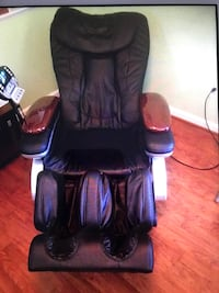 black and brown leather massage chair Gaithersburg, 20879