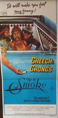~ 1978 AUSTRALIAN UP IN SMOKE POSTER.SIGNED BY TOMMY CHONG (cheech & chong) ~ Overland Park, KS, USA