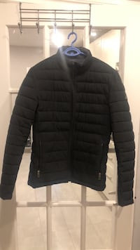 black zip-up bubble jacket Toronto, M6E 3P8