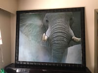 Large male elephant painting takes up that whole wall in picture in my kitchen. A couple of small marks   Richmond, V7A 4L4