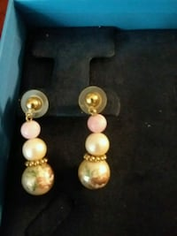 Pink and white  pearl earrings Dewey, 86327