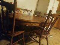 brown wooden dining table set Waukee, 50263