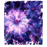 Original Slate Painting Artwork Floral Alcohol Ink Ready to Mount Home Decor Wall Hanging Crofton, 21114